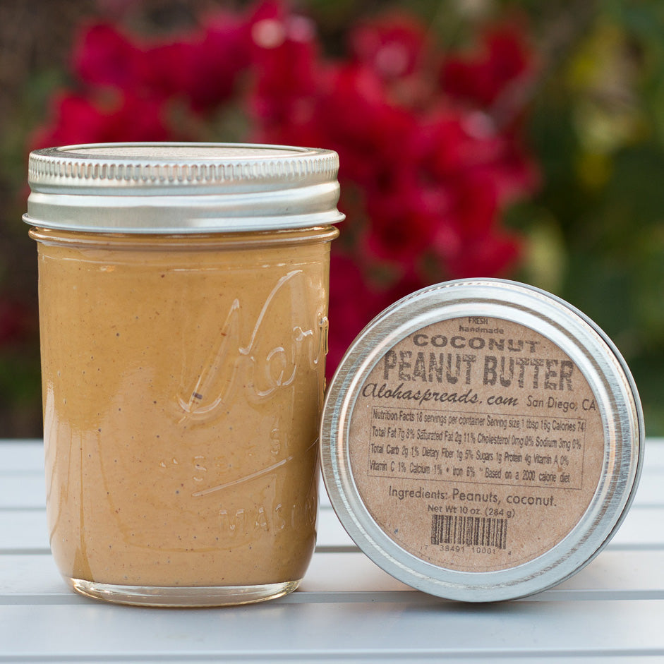 2 Coconut Peanut Butter - Jar        FREE SHIPPING