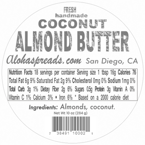 Coconut Almond Butter - Jar
