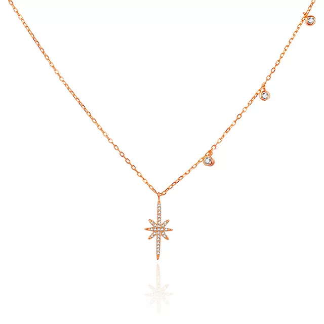 Silver RG plated CZ necklace