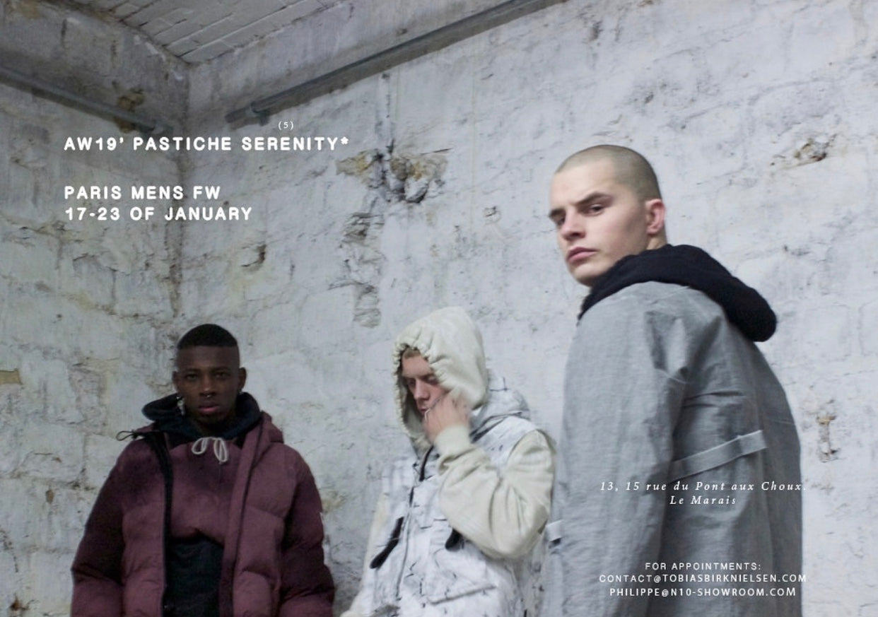 "Tobias Birk Nielsen AW19 | How do you understand ""PASTICHE SERENITY""?"