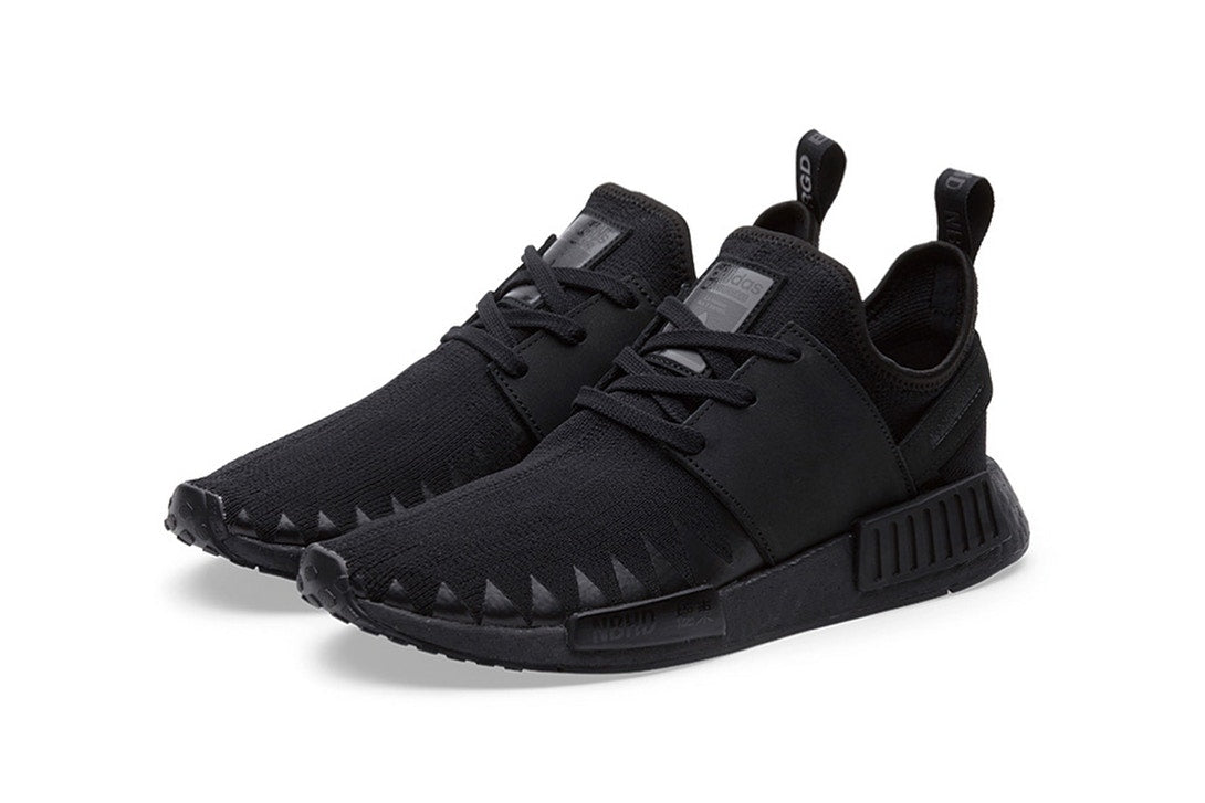 "Images of a New NEIGHBORHOOD x adidas Originals NMD R1 ""Triple Black"" Model Appears."