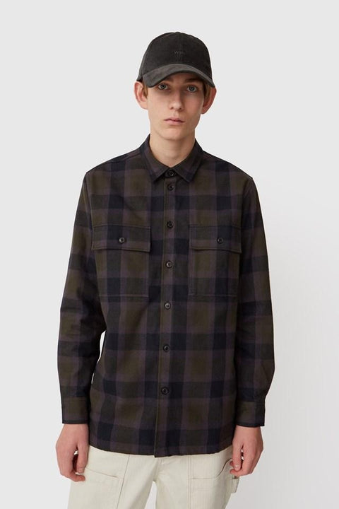 WOOD.WOOD.-FRANCO SHIRT-GREEN CHECK