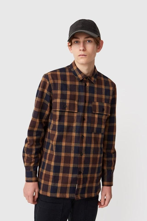 WOOD.WOOD.-FRANCO SHIRT-NAVY CHECK