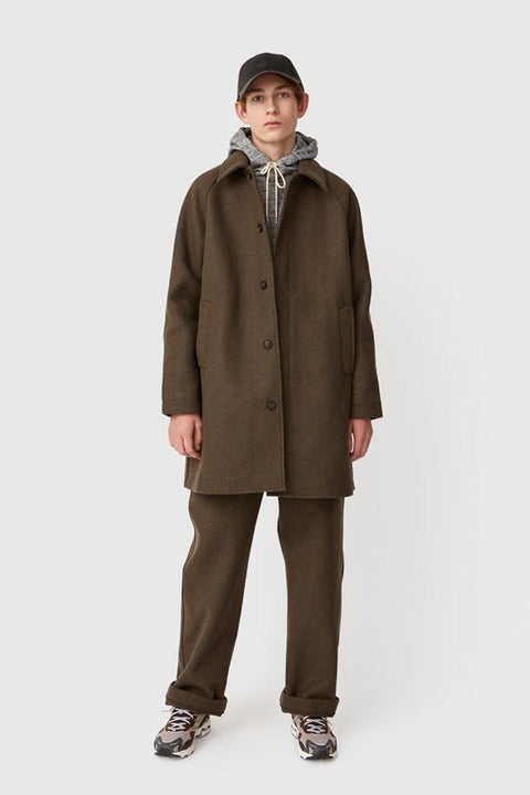 WOOD.WOOD.-FILIP COAT-DARK GREEN