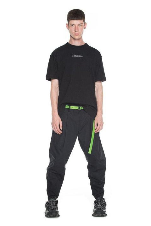 PANTS - PANSTARRS - LOOSE FIT TAPERED  - BLACK