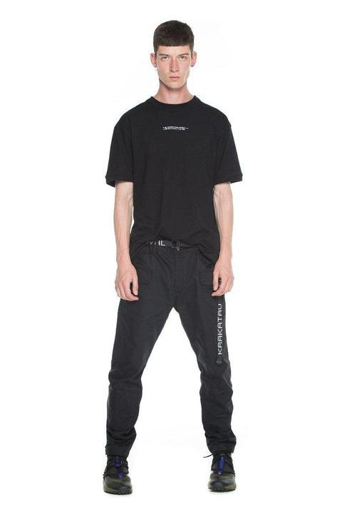 CARGO PANTS - THOLIN - COTTON-NYLON BLEND STRAIGHT  - DARK GREY