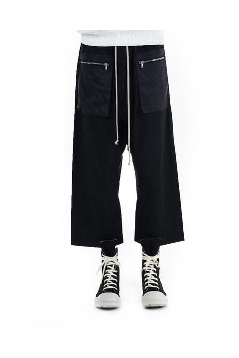 CARGO DRAWSTRING CROPPED - BLACK