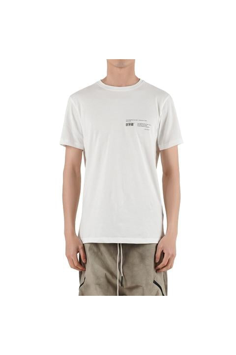 Iso.Poetism - COIL 50/1000 - SHORT SLEEVE TEE - OFF-WHITE