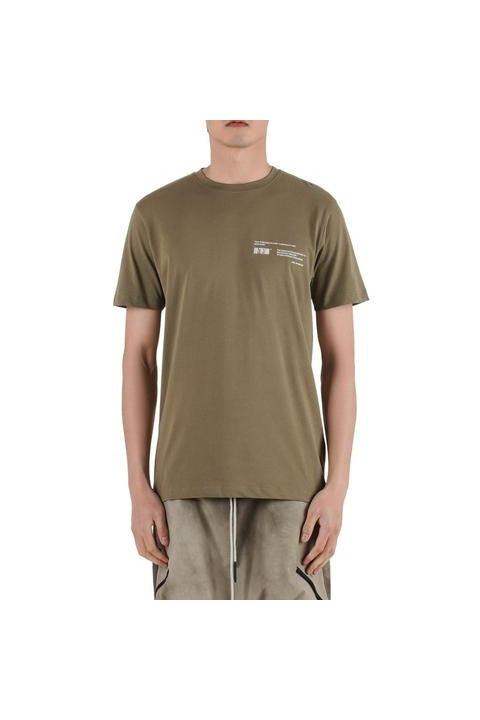 Iso.Poetism - COIL 50/1000 - SHORT SLEEVE TEE - OLIVE