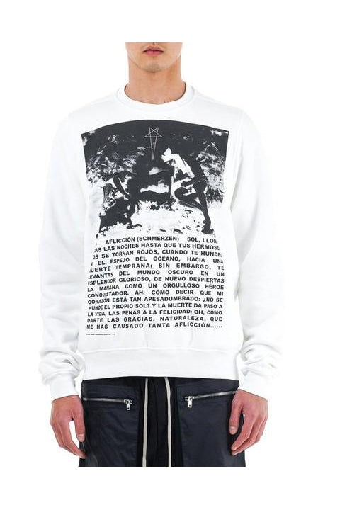 CREWNECK SWEAT - WHITE/BLACK