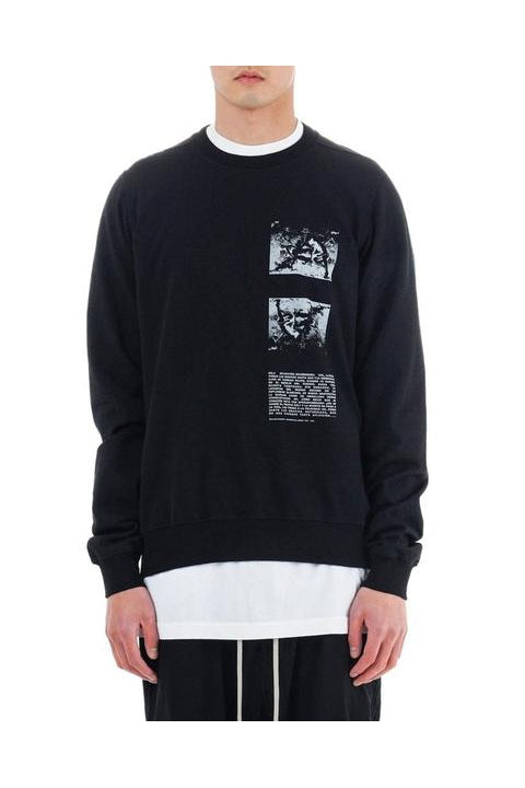 CREWNECK SWEAT - BLACK/WHITE