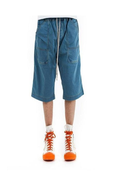 DRAWSTRING SHORTS - DENIM BLUE