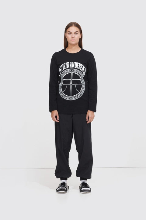 Astrid Andersen-BASIC LONG SLEEVE LOGO-BLACK