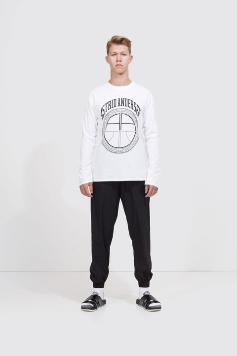 Astrid Andersen-BASIC LONG SLEEVE LOGO-WHITE