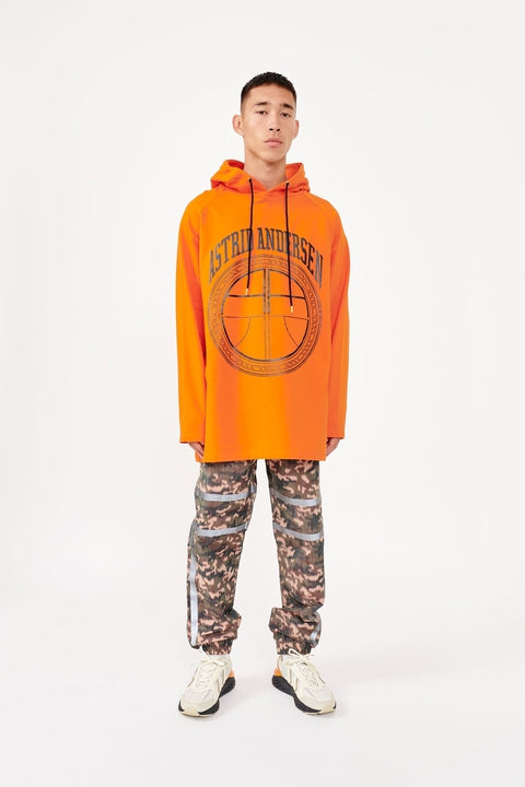 Astrid Andersen-BASIC HOODIE LOGO-ORANGE