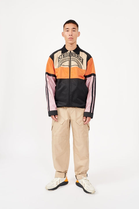Astrid Andersen-TRACK JACKET EMBROIDERY-BLACK/ORANGE/PINK
