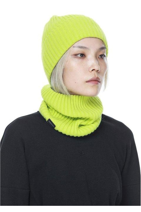KRAKATAU-Wool Neckwarmer-Pu22/9-Lime