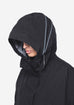 HOODED RAINCOAT - MISHIMA - BLACK