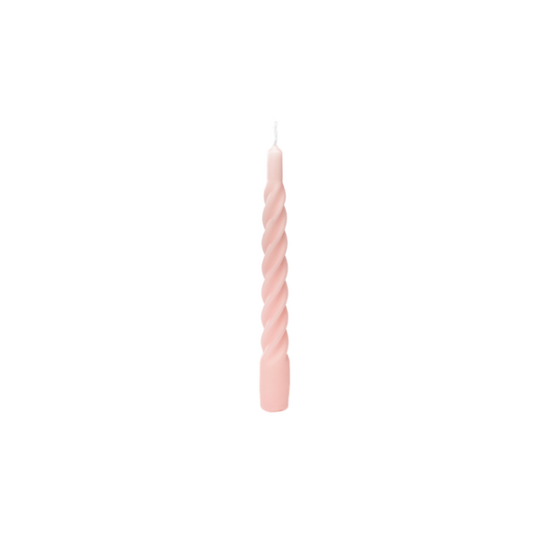 Matt Pink Twisted Candle