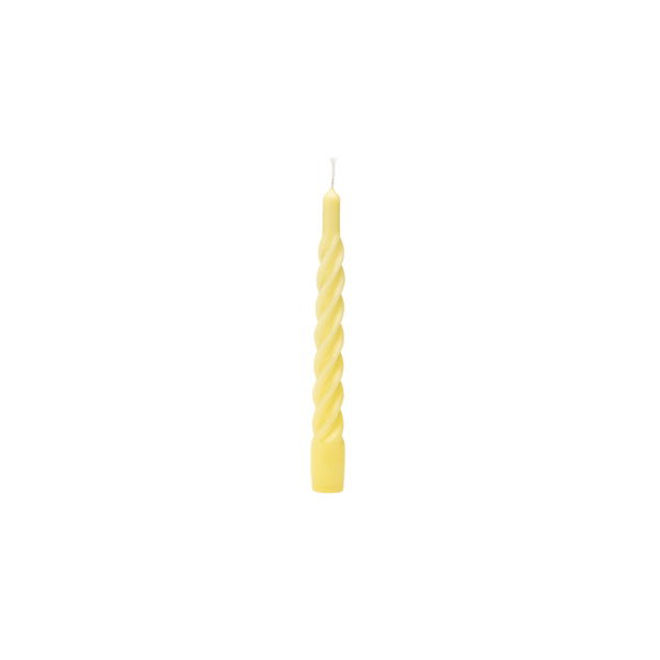 Shiny Yellow Twisted Candle