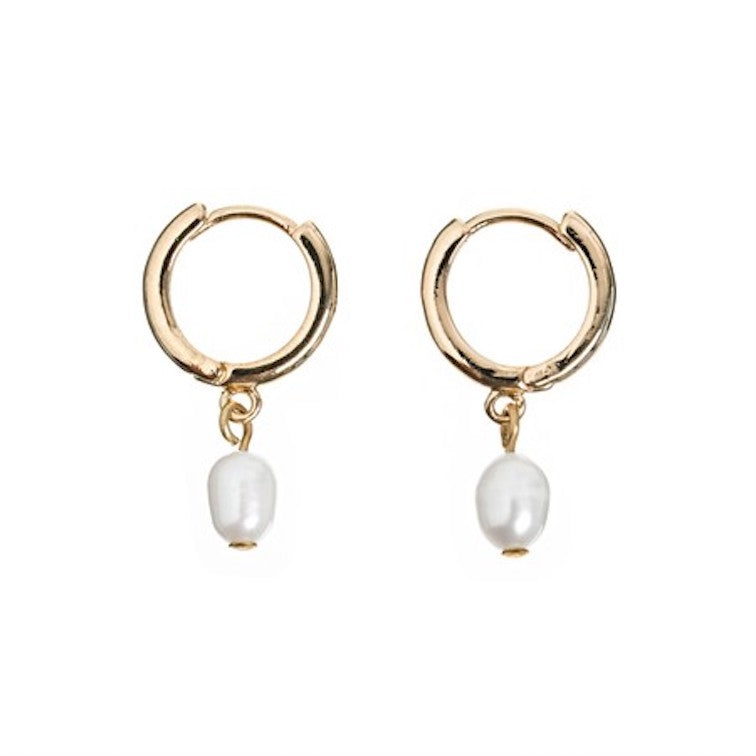 Pearl Small Hoop Earrings