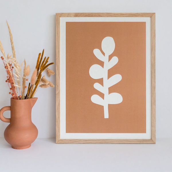 Plant Poster Brown