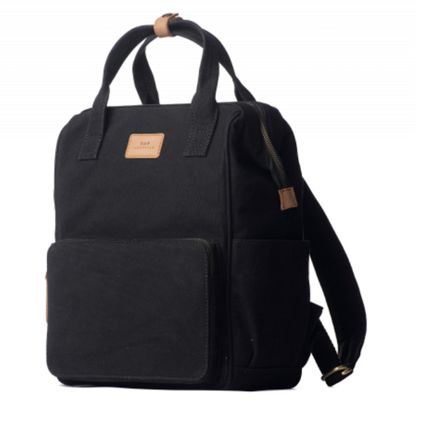 Billie's Back Pack Black Waxed Camel