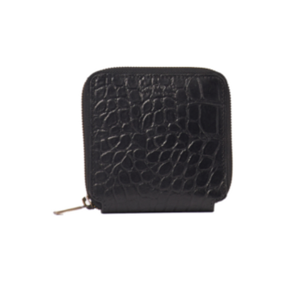 Sonny Square Wallet Black Croco