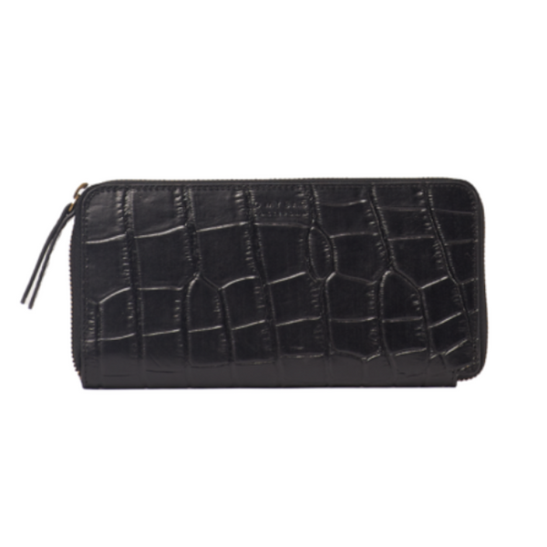 OMB Sonny Long Wallet Black Croco
