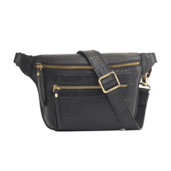 Beck's Bum Bag Black Croco