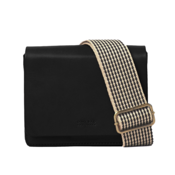 Audrey Mini Bag Black Checkered Classic Leather