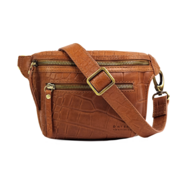Beck's Bum Bag Wild Oak Croco Classic Leather Strap