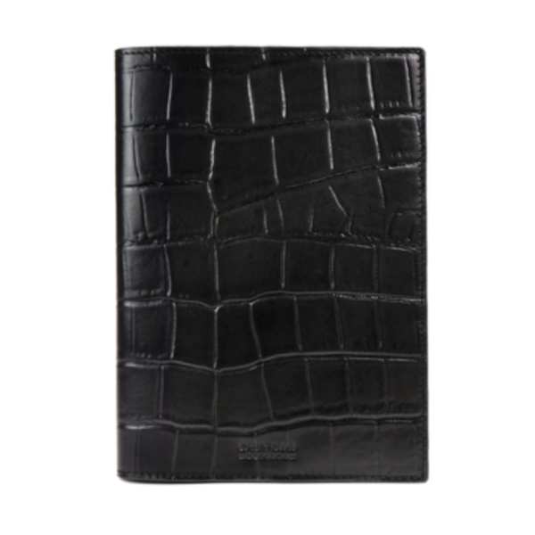 Notebook Cover Black Croco