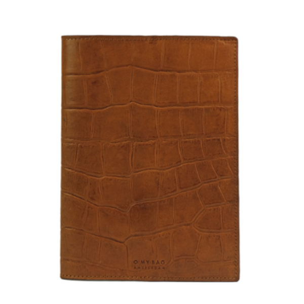 Notebook Cover Cognac Croco