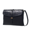 Ella Midi Bag Black Croco