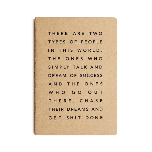 Get Shit Done - A5 Manifesto Notebook