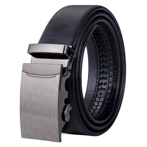 Top Quality Automatic Buckle Black Leather Belt