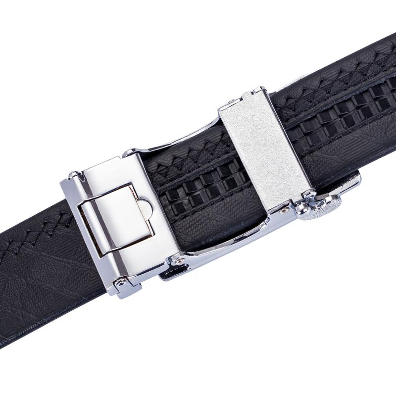 Load image into Gallery viewer, Simple Classic Automatic Buckle Black Leather Belt