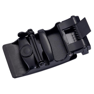 Load image into Gallery viewer, Luxury Black Metal Automatic Buckle Black Leather Belt