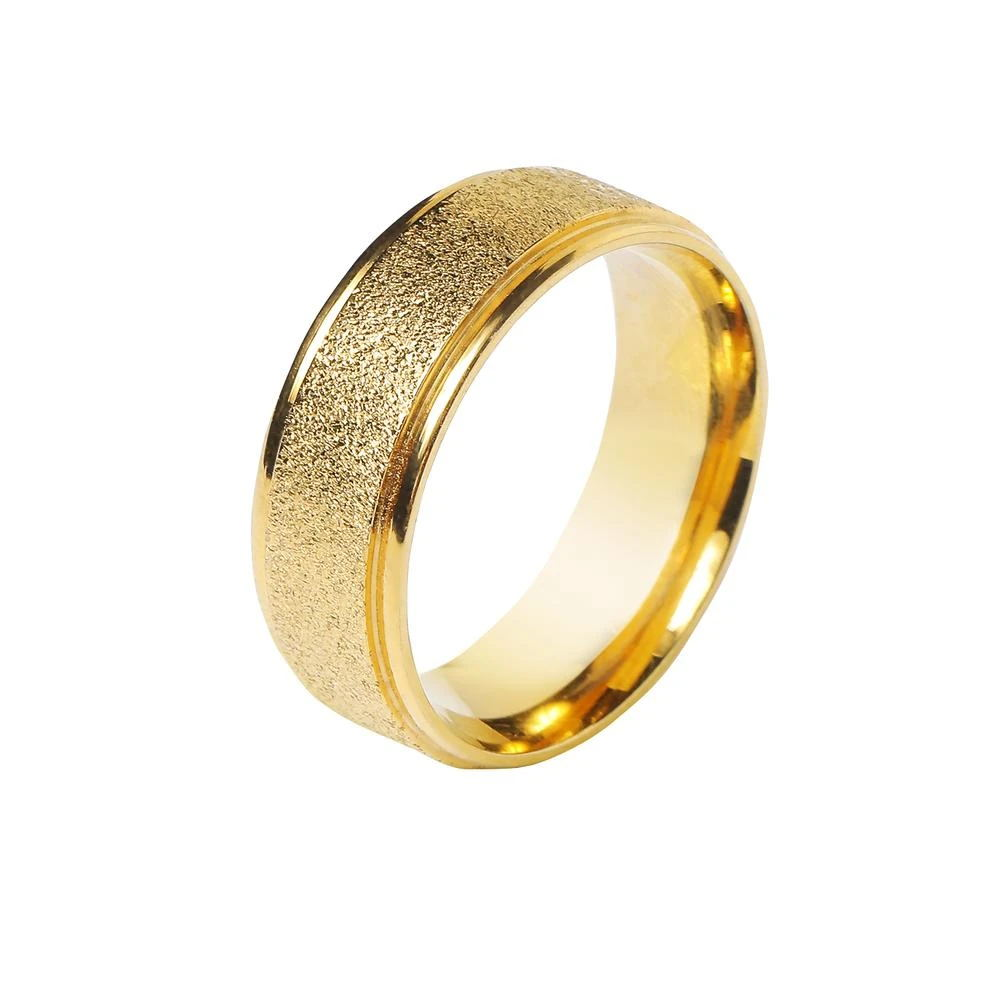 Golden Titanium Steel Metal Ring Decoration for Ties