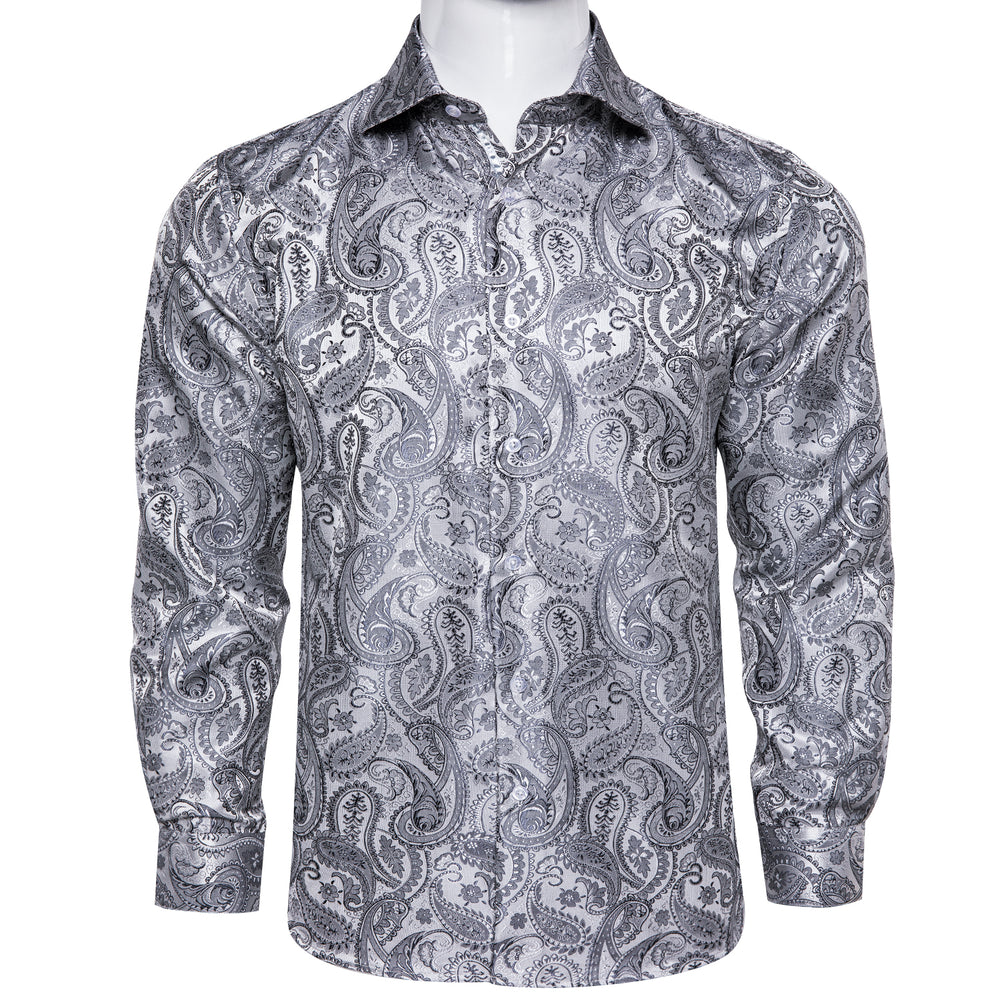 Grey Paisley Men's Shirt