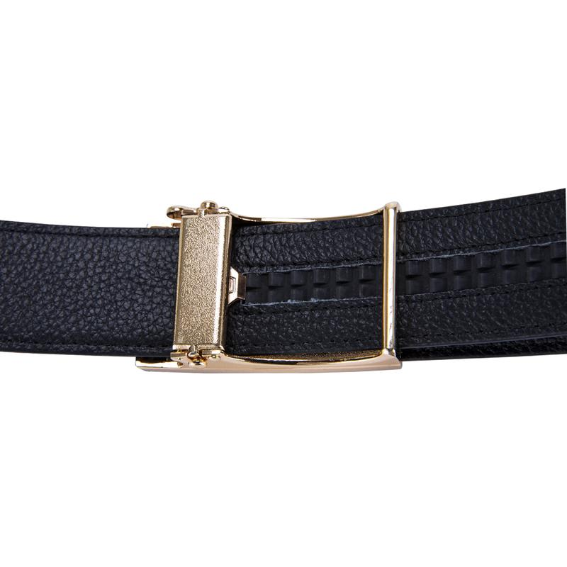 Simple Stylish Automatic Buckle Yellow Leather Belt
