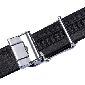 Luxury Colorful Automatic Buckle Black Leather Belt