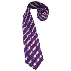 Load image into Gallery viewer, Purple striped Men's Tie