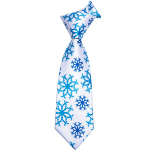 Men's Tie Snow Floral Tie Handkerchief Cufflinks Set (1630640996394)