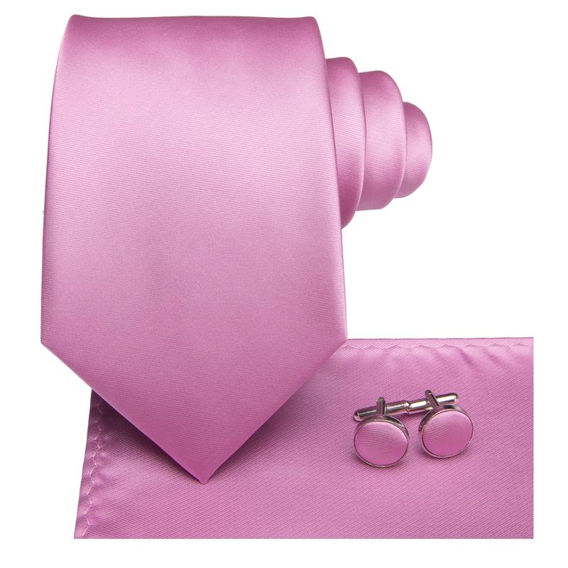 Load image into Gallery viewer, Purplish Pink Solid Men's Tie Pocket Square Cufflinks Set