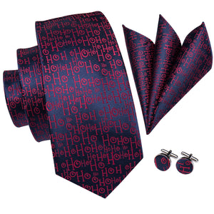 Load image into Gallery viewer, Novelty Blue Red Men's Tie Pocket Square Cufflinks Set
