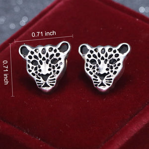 Load image into Gallery viewer, Luxury Silver Golden Leopard Head Collar Pin