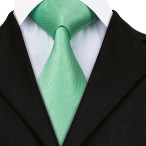 Mint Green Tie Handkerchief and Cufflinks (447963201578)