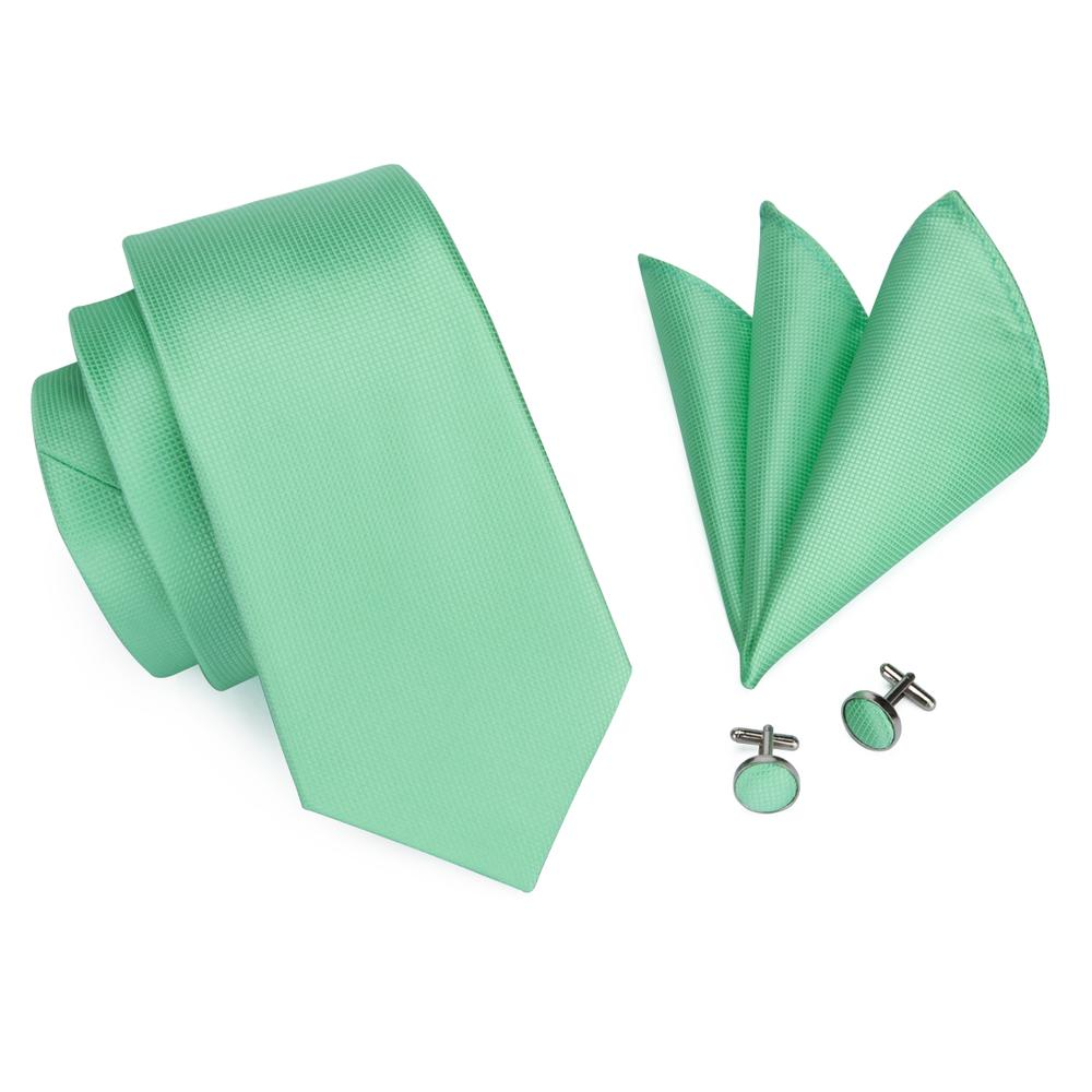 Load image into Gallery viewer, Mint Green Tie Handkerchief and Cufflinks (447963201578)